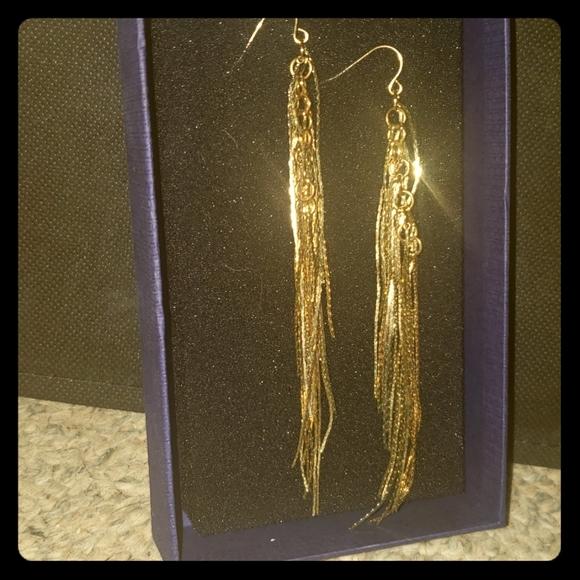 Vintage gold dangle earings